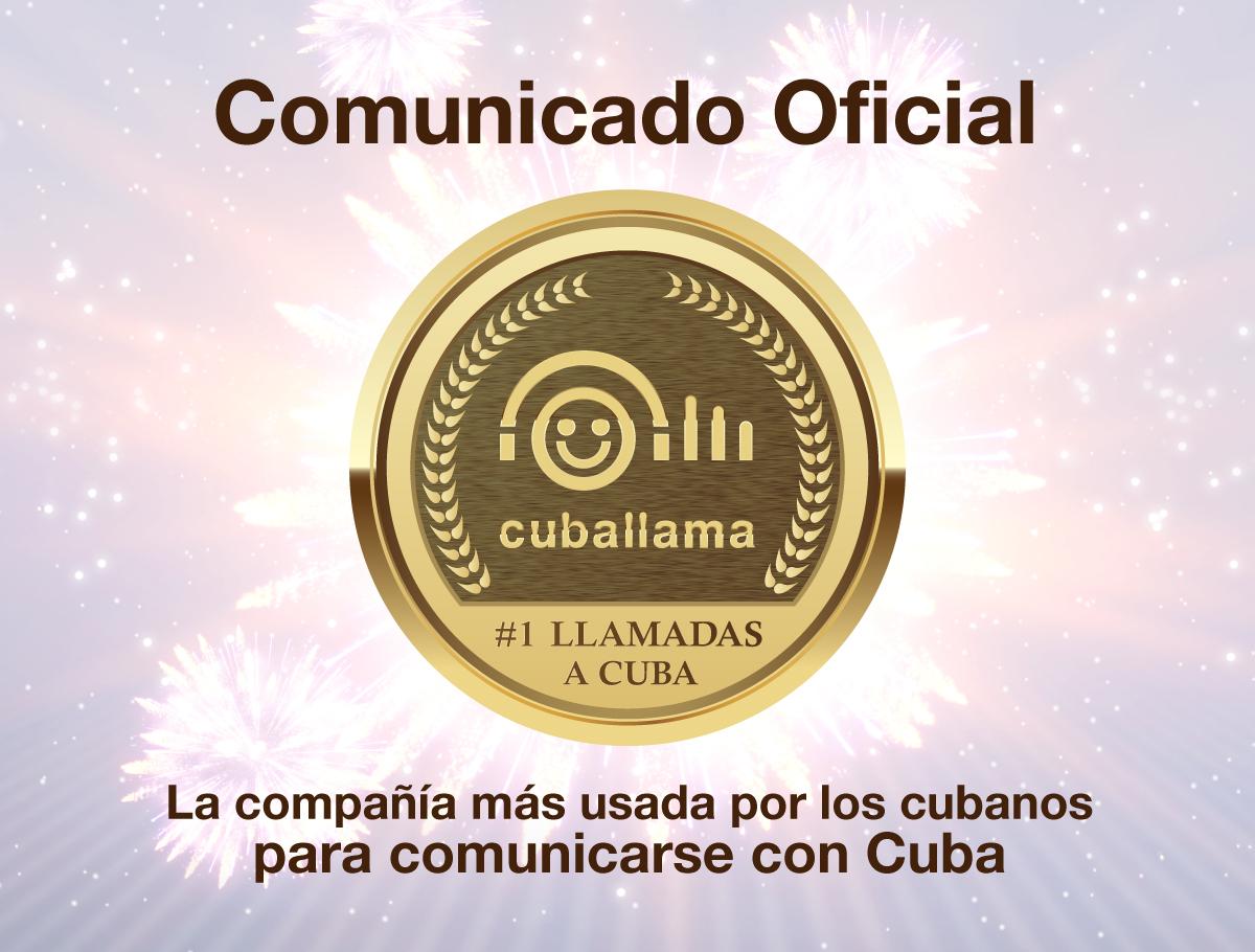 Comunicado de Cuballama. SMS hacia CUBA