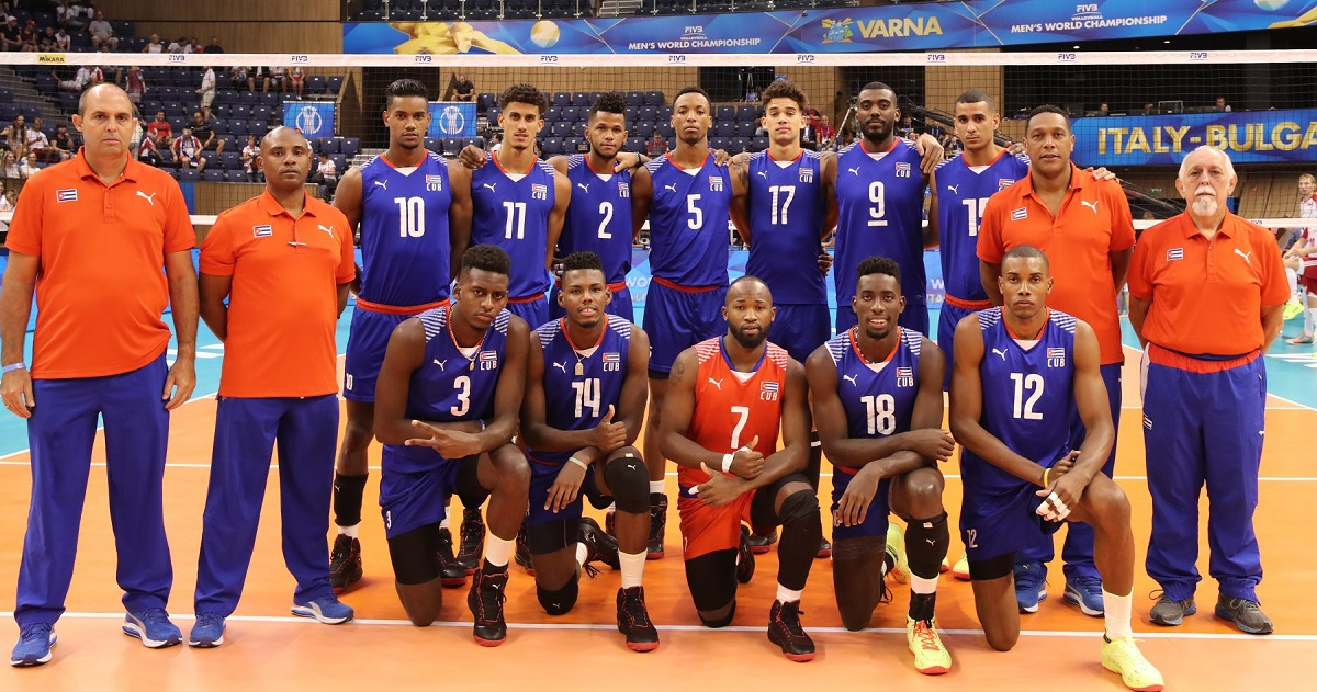 Volleyball cuban players