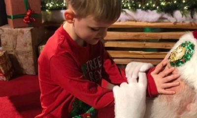 Blind boy with autism meets Santa Claus for first time