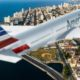American Airlines over Havana