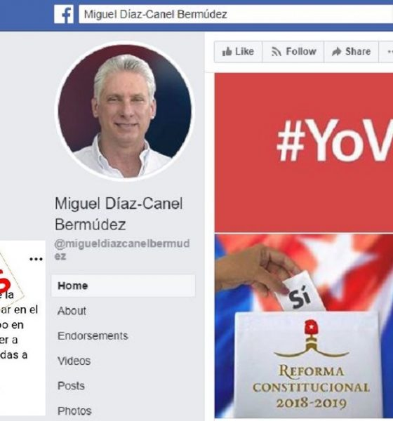 Díaz-Canel fake account