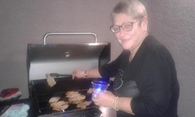Julita Osendi en una barbecué