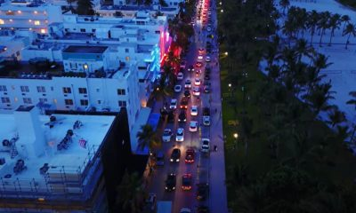 toque de queda en distrito de entretenimiento de South Beach, Miami de noche, alcohol