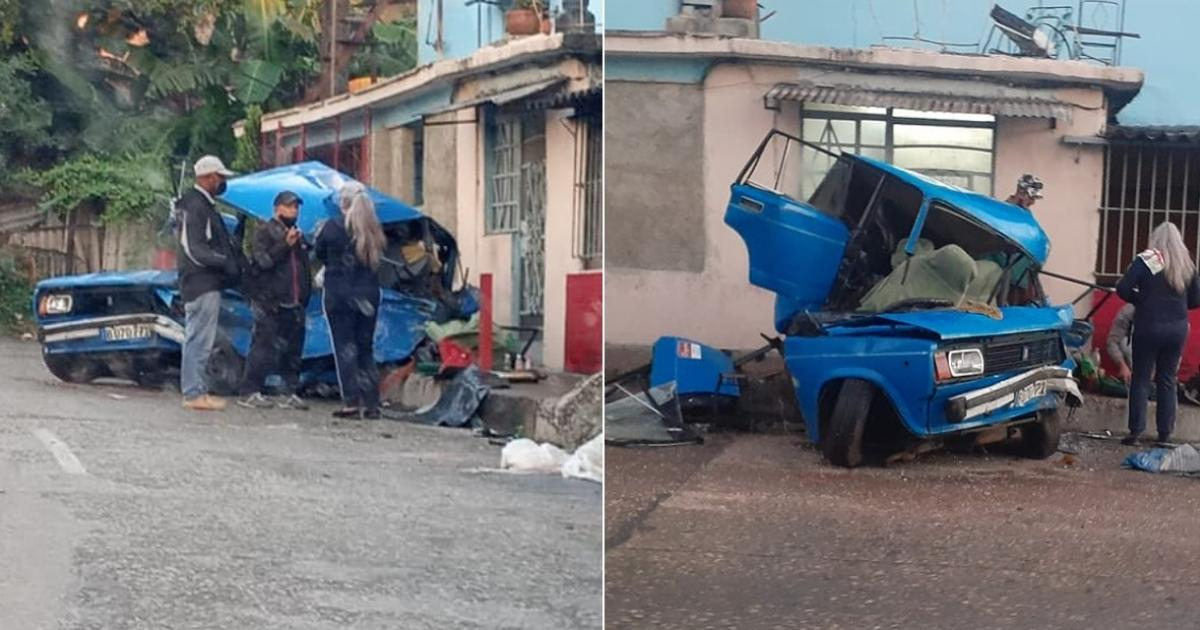 aparatoso accidente en La Habana