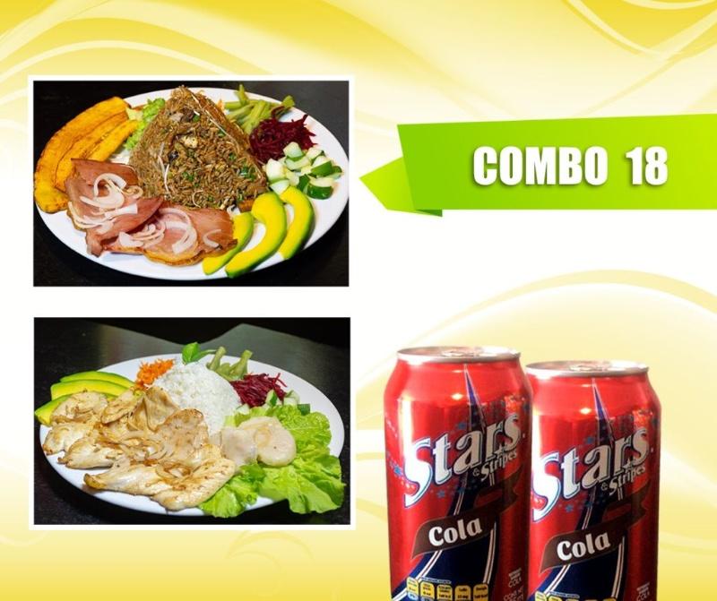 Combo de comida Restaurantes 6